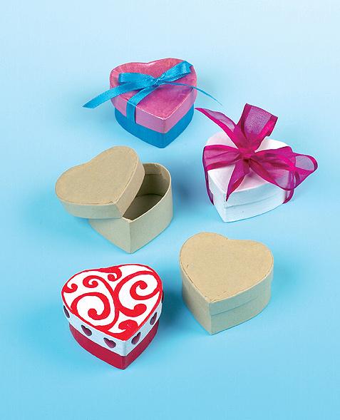 Krabičky ve tvaru srdce