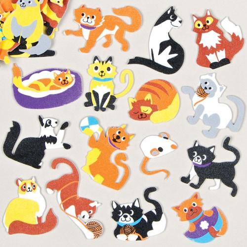 Pěnové samolepky kočky (120ks)