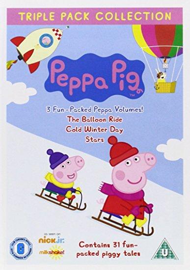 Angličtina pro děti - Peppa Pig - Triple Pack 3 (3x DVD film - Ballon Ride, Cold Winter Day, Stars)