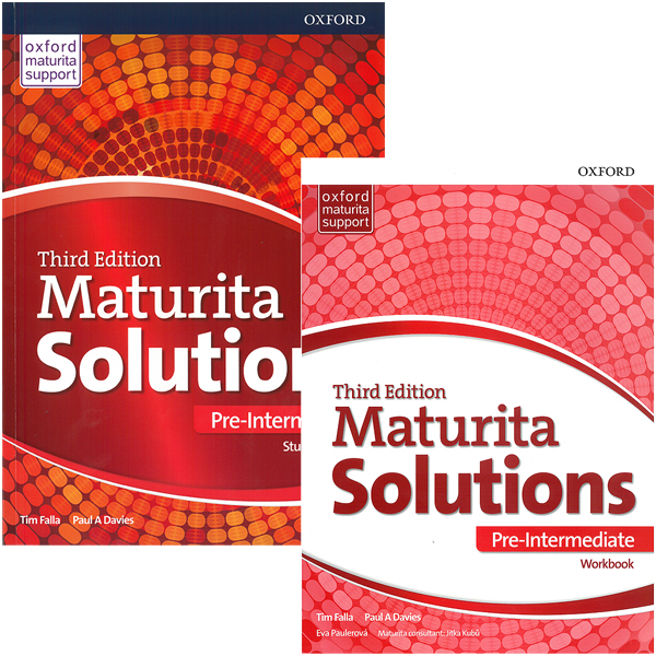Maturita Solutions 3rd Edition Pre-Intermediate Pack Workbook + Student´s Book Czech Edition