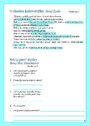 Procvičovací sešit k čítance 3