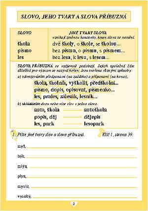 Vyjmenovaná slova pro 3. třídu - Procvičovací sešit - Náhled učebnice