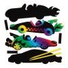 Magnetky závodní auta barvené škrabáním (AW577)