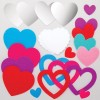 Zrcátko srdce (4ks)