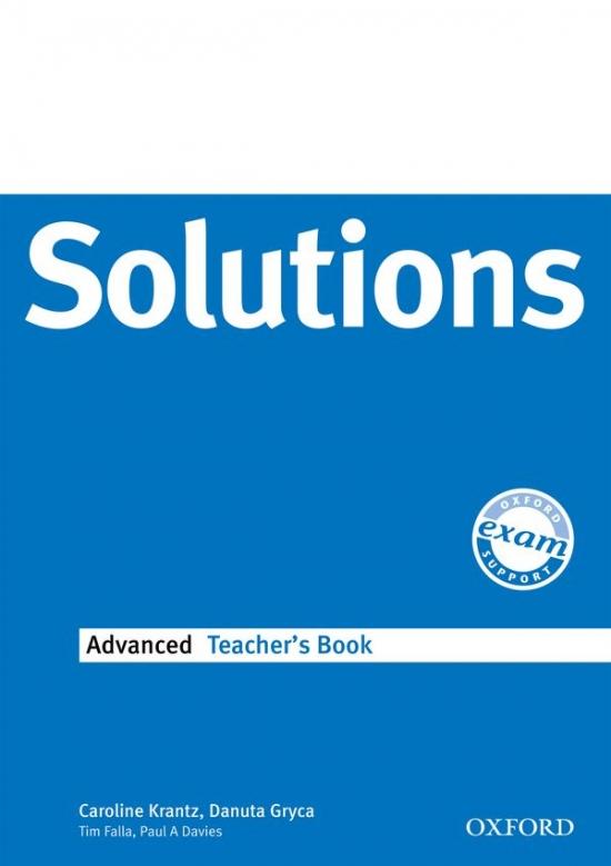Maturita Solutions Advanced TEACHER´S BOOK