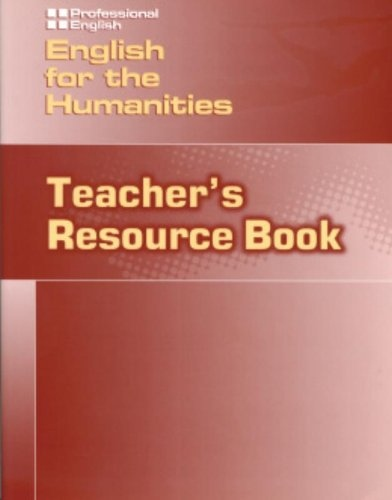 PROFESSIONAL ENGLISH: ENGLISH FOR HUMANITIES TEACHER´S RESOURCE BOOK