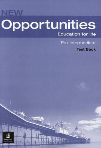 NEW OPPORTUNITIES Pre-Intermediate Test CD Pack