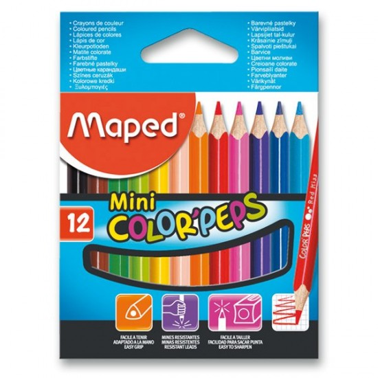 Pastelky Maped Color´Peps Mini - 12 barev