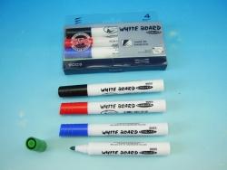 KOH-I-NOOR souprava značkovačů White Board 9005 4 kulatý