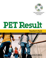 PET Result! Teacher´s Pack (Teacher´s Book. Assessment Booklet with DVD. Dictionaries Booklet)