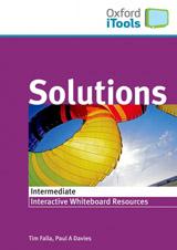 Solutions iTools obsahuje vybran� materi�ly z u�ebnice vhodn� k interaktivn�mu vyu�it�, hry a dal�� aktivity k procvi�ov�n� v�ech jazykov�ch dovednost�, FLASHCARDS v elektronick� podob� k p��prav� na �stn� ��st zkou�ek, ve�ker� texty nahr�vek z u�ebnice ve form�tu Word, pozn�mky pro u�itele a n�pov�da, jak pou��vat interaktivn� tabule