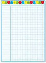 Na tabulce je m�sto pro 33 ��k�, u ka�d�ho ��ka je 20 �tvere�k�. Ide�ln� je kombinace s n�lepkami se smajl�ky v barv� t�mu.