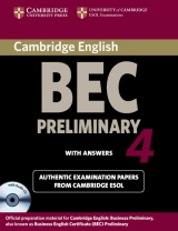 Cambridge BEC Preliminary 4 Self-Study Pack