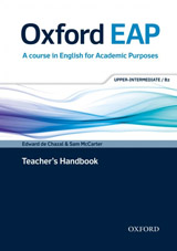 Oxford EAP (English for Academic Purposes) B2 Teacher´s Book with DVD & Audio CD
