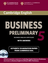 Cambridge BEC 5 Preliminary Self-study Pack