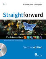 Straightforward 2nd Edition Pre-Intermediate Workbook with Key Pack