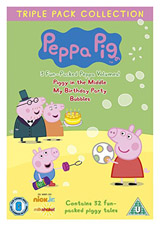 Angliètina pro dìti - Peppa Pig - Triple Pack 2 (3x DVD film - Piggy in the Middle, My Birthday Party, Bubbles)