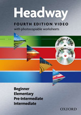 New Headway (4th Edition) Video and Worksheets Pack (Beginner, Elementary, Pre-Intermediate & Intermediate) Book & DVDs (2)