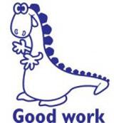 Samobarvící razítko Dino - Good Work