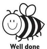 Samobarvící razítko Bee - Well done