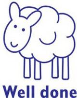 Samobarvící razítko Sheep - Well done