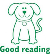 Samobarvící razítko Dog - Good reading