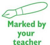 Samobarvící razítko Pen - Marked by your teacher