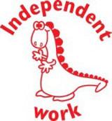 Samobarvící razítko Dino - Independent work