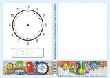 Stíratelná tabulka na procvièování psaní, hodin a na kreslení (Nová øada) (S-30)