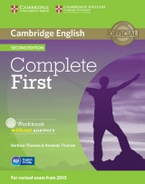 Complete First (2nd Edition) Workbook without Answers with Audio CD