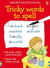 Usborne - Tricky words to spell cards
