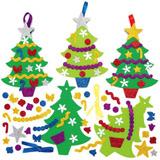 Pìnové vánoèní stromky k dokonèení (6 ks)