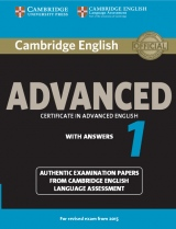 Cambridge English: Advanced (CAE) 1 (2015 Exam) Student´s Book with Answers