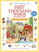 Usborne First Thousand Words in English Sticker Book
