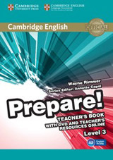 Prepare! 3 Teacher´s Book w. DVD & Teacher´s Resources Online