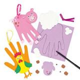 Sada k výrobì dekorace otisk ruky - zvíøátka z farmy (4ks)