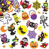 Pìnové samolepky Halloween (100 ks)