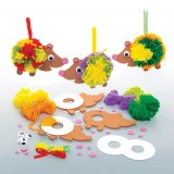 Sada k výrobì dekorace ježek - bambulka (3 ks)