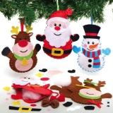 Šitíèko ozdoby vánoèní postavy (3 ks)