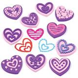 Pìnová razítka srdce (10ks)