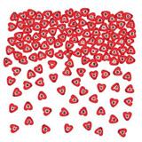 Korálky - srdce s drahokamem (350 ks)
