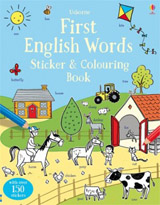 Usborne First English words sticker and colouring book
