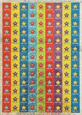 12mm tøpytivé ètvercové mini samolepky Hvìzdy Super star (468 kusù)