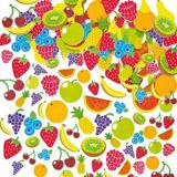 Pìnové samolepky ovoce (120ks)
