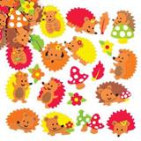 Pìnové samolepky ježci