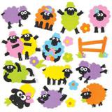 Pìnové samolepky oveèky (120ks)
