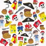 Pìnové samolepky piráti (96ks)