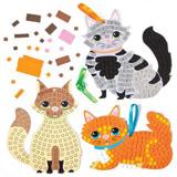 Dekorace koèky mozaika (5ks)