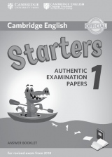 Cambridge English Young Learners 1 for revised exam from 2018 Starters Answer Booklet