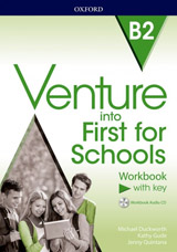 Venture into First for Schools Workbook With Key Pack